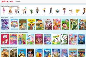 You can search through the KIDS section based on your favourite characters!