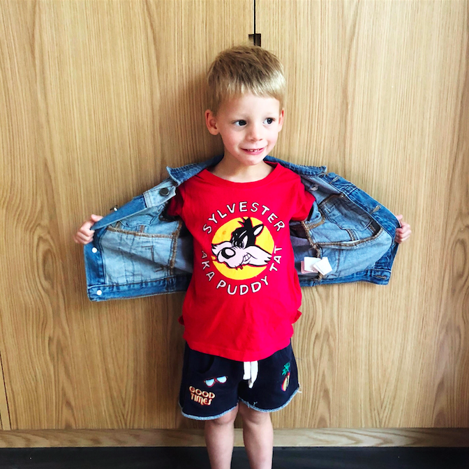 Cotton on Kids Looney Tunes. The cheeky Sylvester tee that suits our rebel  Huddy perfectly… 55039b526